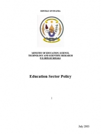 Rwandan National Education Policy