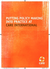 Putting policy making into practice at CARE International