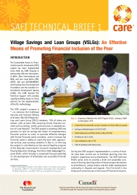 Village Savings and Loan group (VSLg): An Effective Means of Promoting Financial Inclusion of the Poor